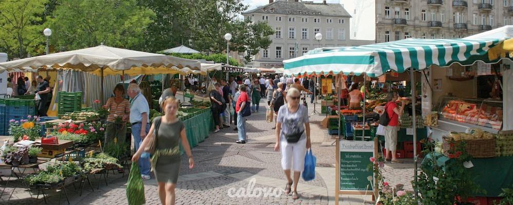 Marktfrühstücke auf dem Wiesbadener Wochenmarkt