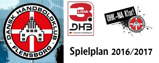 DHK Flensborg - Spielplan Saison 2016/2017