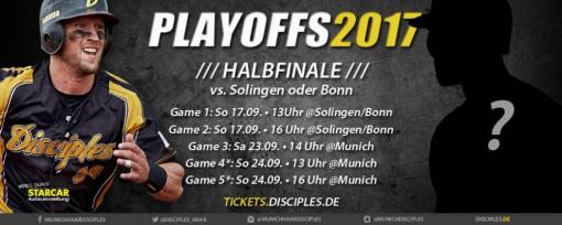 München-Haar Disciples - Spielplan 1. Bundesliga 2017